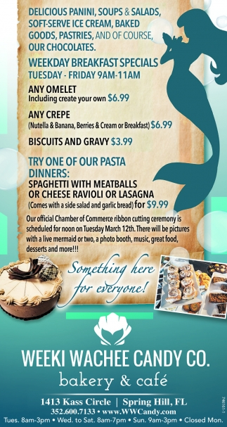 WEEKDAY BREAKFAST SPECIALS