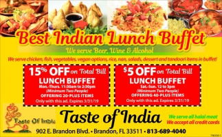Best Indian Lunch Buffet