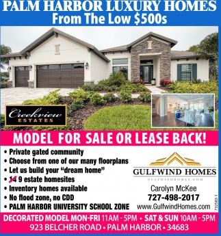 MODEL FOR SALE OR LEASE BACK!