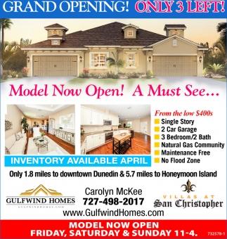 Model Now Open!