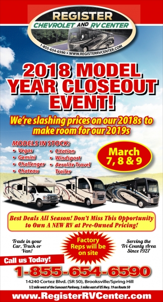 2018 MODEL YEAR CLOSEOUT