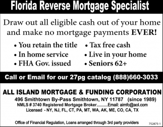 Florida Reverse Mortgage Specialist