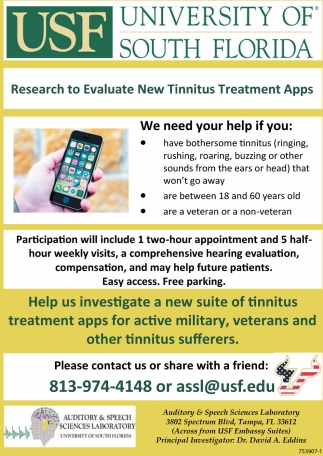 Research To Evaluate New Tinnitus Treatment Apps