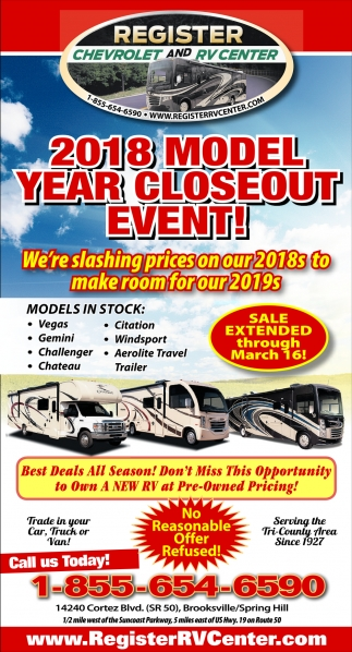 2018 MODEL YEAR CLOSEOUT EVENT