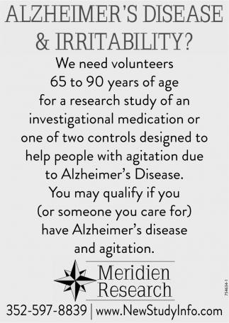 Alzheimer's Disease & Irritability?
