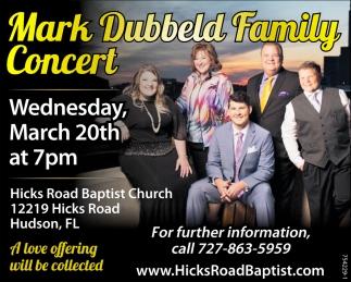 Mark Dubbeld Family Concert