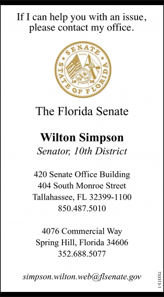 If I Can Help You With An Issue, Please Contact My Office