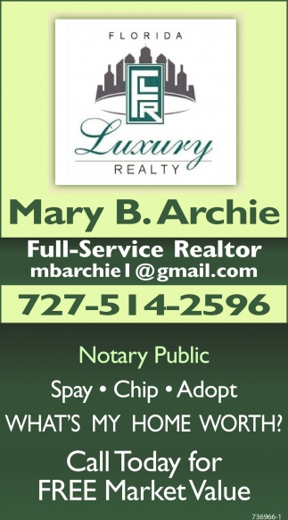 Call Today For FREE Market Value