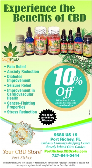 Experience The Benefits Of CBD, CBD Store Port Richey