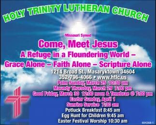 Come, Meet Jesus
