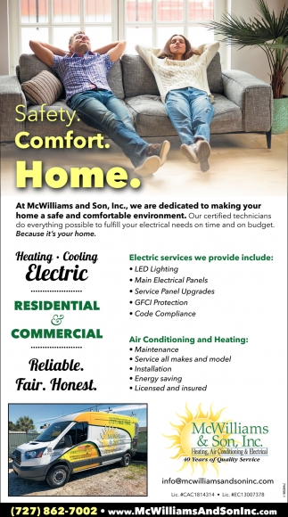 Safety. Comfort. Home.
