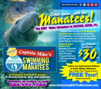Swiming With The Manatees