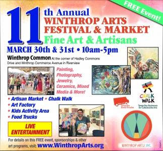 11th Annual Winthrop Arts Festival & Market
