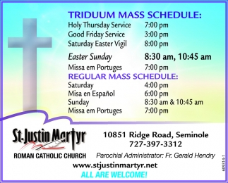 Triduum Mass Schedule