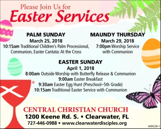 Please Join Us For Easter Services