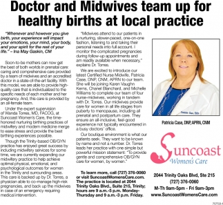 Doctor And Midwives Team Up