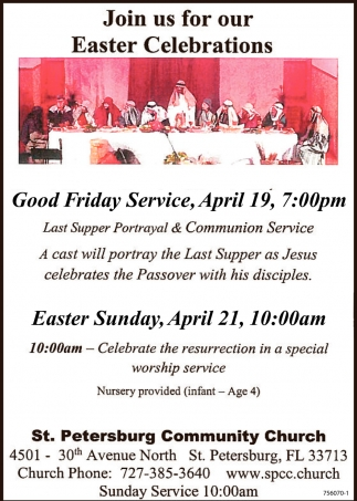Join Us For Our Easter Celebration