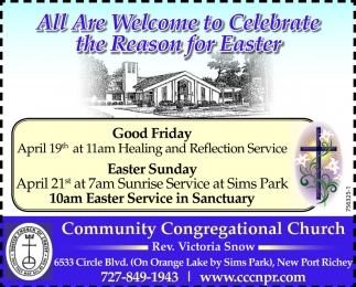 All Are Welcome To Celebrate The Reason Of Easter