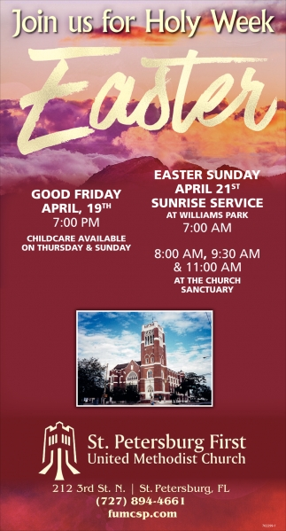 Join Us For Holy Week Easter