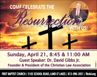 Come Celebrate Resurrection With Us