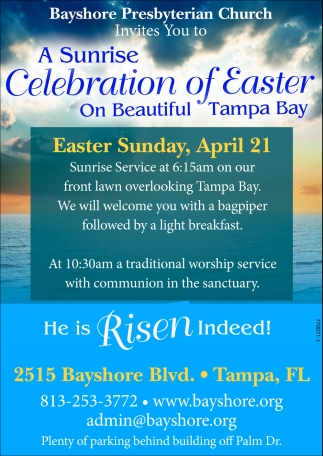 A Sunrise Celebration Of Easter