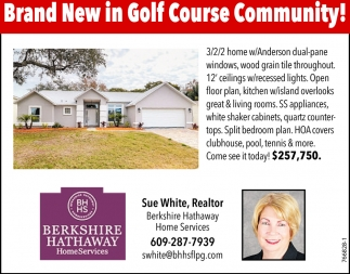 Brand New In Golf Course Community