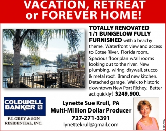 Vacation, Retreat Or Forever Home!