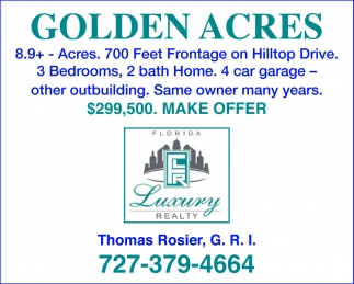 GOLDEN ACRES  MAKE OFFER
