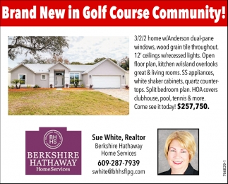 Brand New In Golf Course Community!