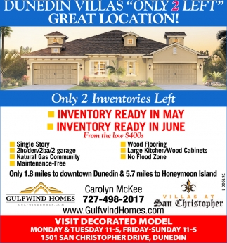 DUNEDIN VILLAS, ONLY 2 LEFT!