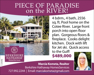 PIECE OF PARADISE ON THE RIVER!