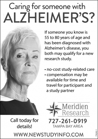 CARING FOR SOMEONE WITH ALZHEIMER'S?