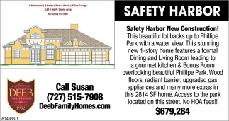 Safety Harbor New Construction!