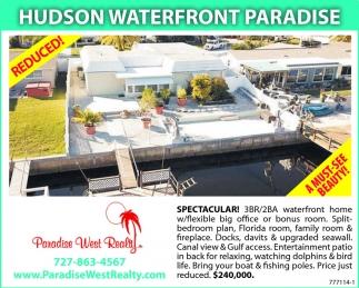 HUDSON WATERFRONT PARADISE