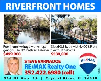 RIVERFRONT HOMES