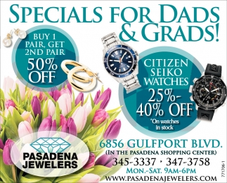 SPECIALS FOR DADS & GRADS