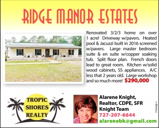 RIDGE MANOR ESTATES