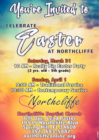 You're Invited To Celebrate Easter At North Cliffe