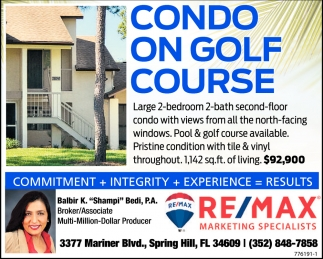 CONDO ON GOLF COURSE