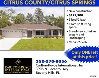 CITRUS COUNTY/CITRUS SPRINGS