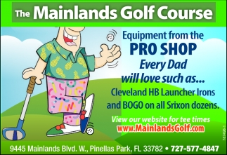 Equipment From The Pro Shop