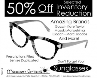 50% Off Selected Inventory Reduction