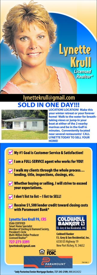 SOLD ON ONE DAY!!!