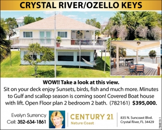 CRYSTAL RIVER / OZELLO KEYS, Lynette Krull, New Port Richey, FL
