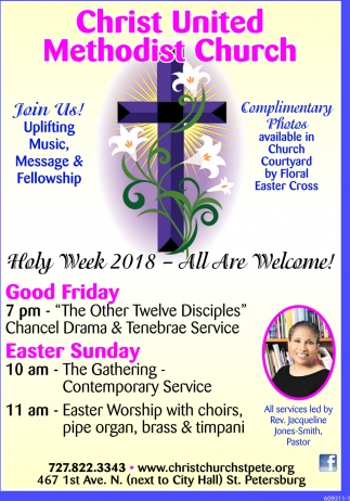 Holy Week 2018 - All Are Welcome!
