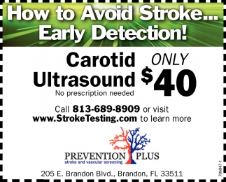 How To Avoid Stroke... Early Detection!