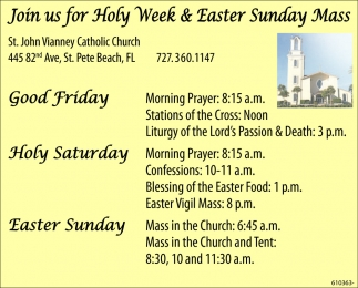Join Us For Holy Week & Easter Sunday Mass