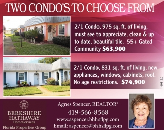 TWO CONDO'S TO CHOOSE FROM