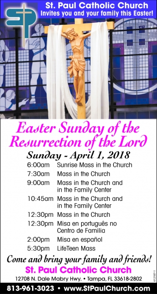 Invites You And Your Family This Easter!