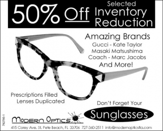 50% Off Inventory Reduction